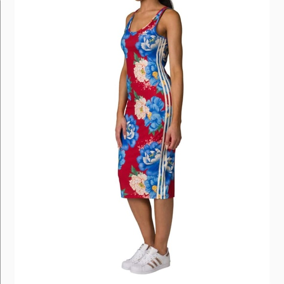 f46504ef7e6 adidas Dresses | Chita Tank Oriental Floral Print Dress Euc | Poshmark